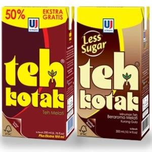 Teh Kotak Less Sugar teh pucuk harum tea citra sukses international