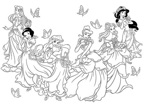 All Princesses Together Coloring Pages Coloring Pages All Disney Princesses Together Coloring Pages