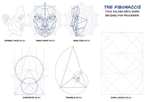 Free Golden Ratio Brushes 10 Fibonacci Shape Brushes Free Procreate Templates