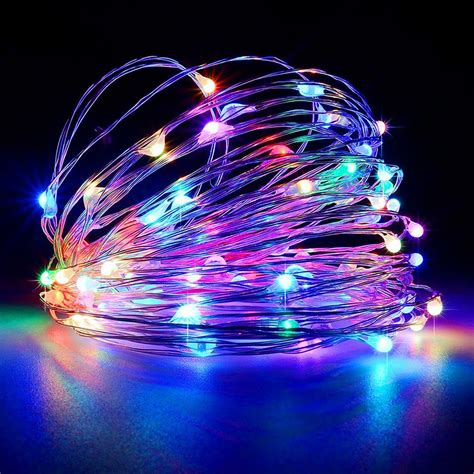 Multicolor 5m 50 Leds Copper Wire Holiday Light For Indoor Led Light Multicolor