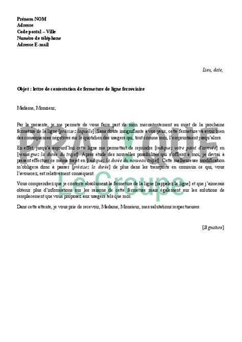 Lettre De Contestation Visa exemple de lettre gratuite contestation