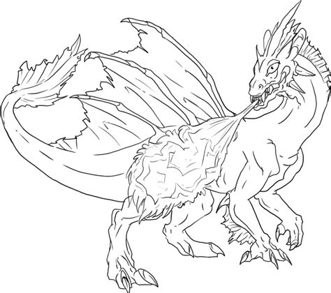 great realistic fire dragon coloring pages with fire