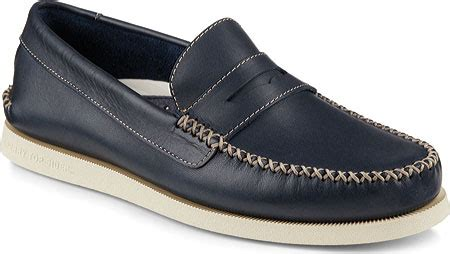 sperry top sider wedge loafer mens sperry top sider a o wedge leather loafer