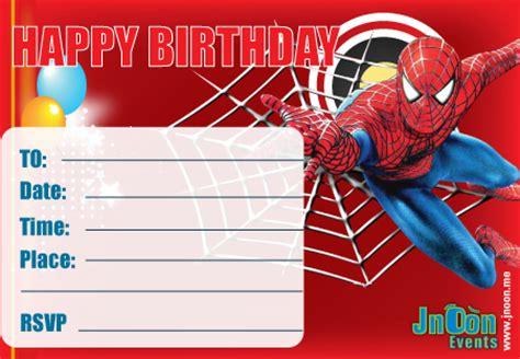 printable spiderman invitation cards gallery