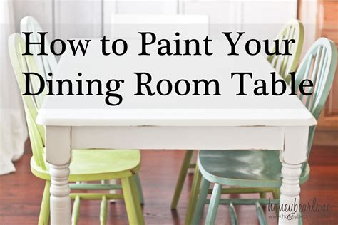 How To Paint Kitchen Table by Dining Table Diy Painting Dining Table