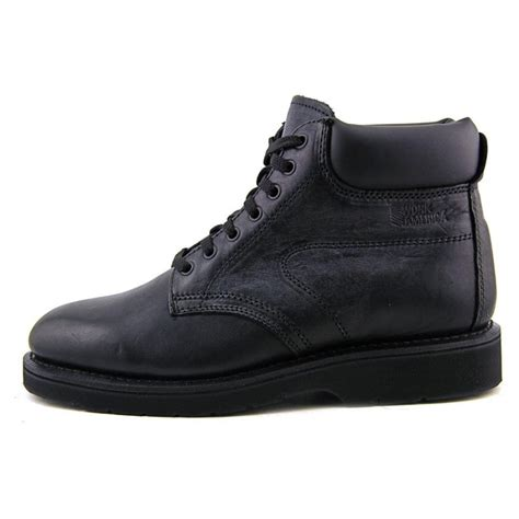 black work boots work america 6 quot responder 2e leather black work boot boots