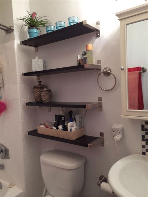 How To Decorate Bathroom Shelves How To Decorate The Toilet Shelves With Thrift Shop Items