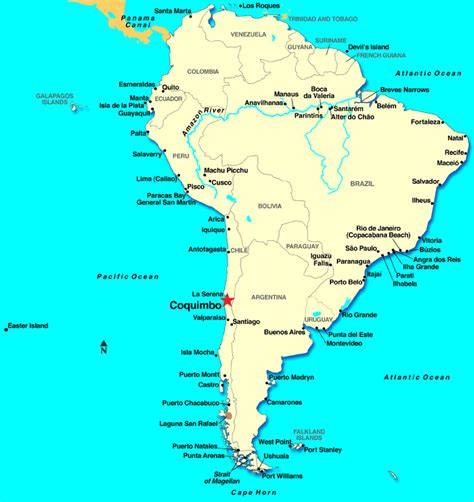south america map distances coquimbo chile discount cruises last minute cruises