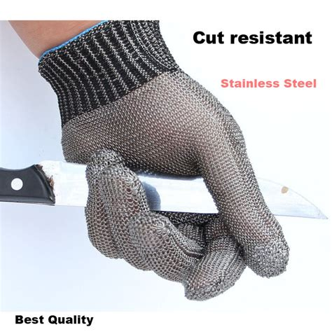 Safety Cut Proof Stab Resistant Stainless Metal Mesh Butche cut proof stab resistant safety work gloves stainless