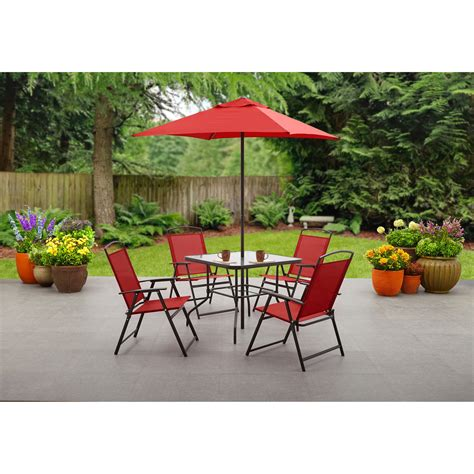 mainstays albany lane  piece outdoor patio dining set