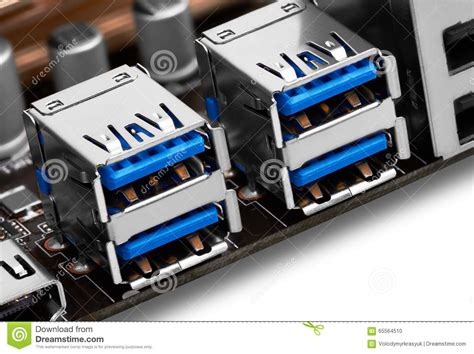 6 Audio Ports On Motherboard by Usb Port On Motherboard Stock Photo Image Of Peripheral