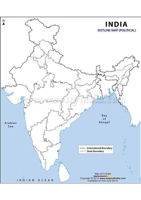 printable india map political printable outline political map of india