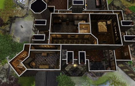 Coolhouseplan mod the sims the spooky mansion