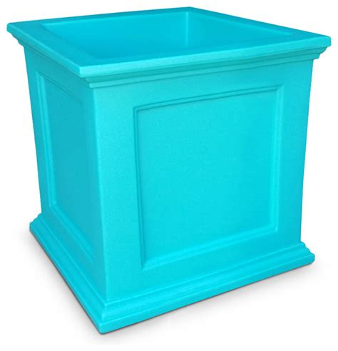 Commercial Planter Pots by Novo Oxford Square Commercial Grade Planter Blue