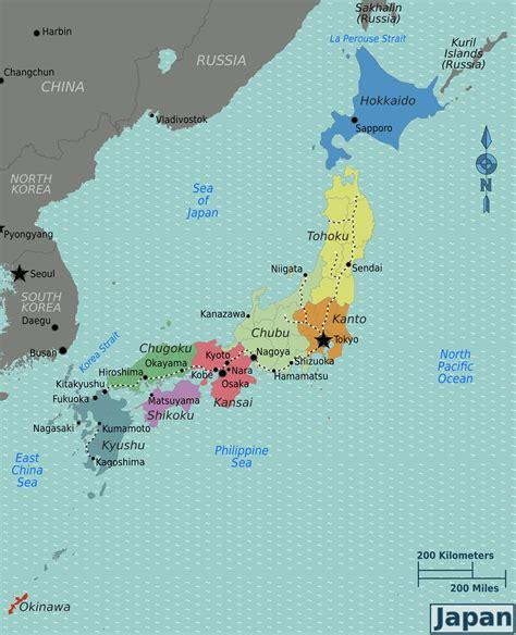 japan regions map japan region map regions map of japan japan political