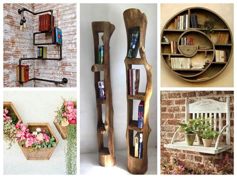creative wall shelves ideas diy home decor