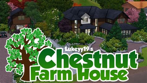 Craftsman Ranch Home Plans the sims 3 house building chestnut farm house youtube