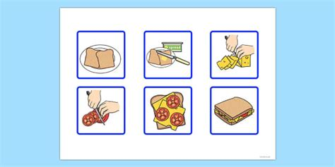makes a pizza sequencing cards 6 step sequencing cards a sandwich sequencing cards
