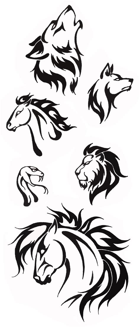 simple tribal animal designs by thehellcow on deviantart