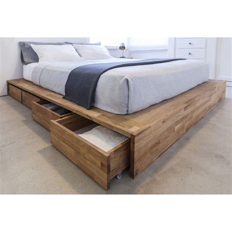 under bed storage frame features walnut finish laxseries collection sturdy