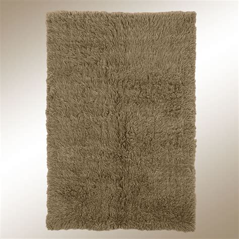 flokati rug khaki brown flokati wool shag area rugs