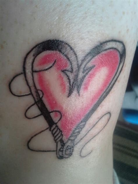 heart tattooed fish my fishing hook heart tattoo for my love of fishing and