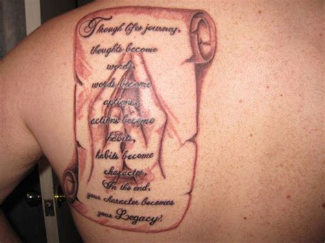back tattoos for men quotes back shoulder quotes tattoos for photo 2 real photo