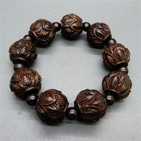 Jam Gelang Bunga gelang keberuntungan kayu gaharu motif bunga lotus