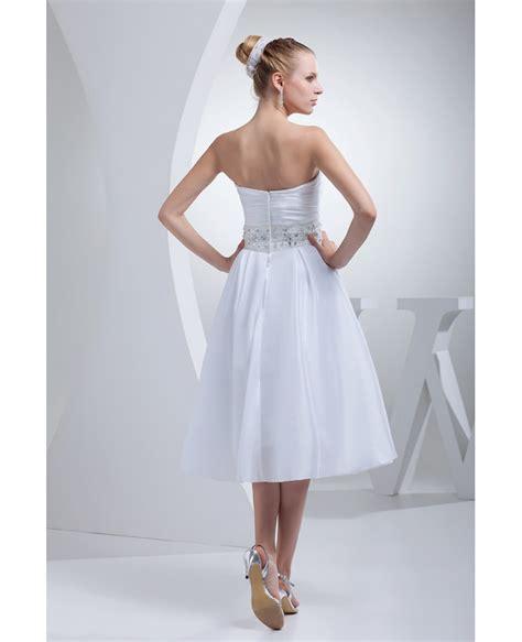 simple tea length wedding dresses for beaded