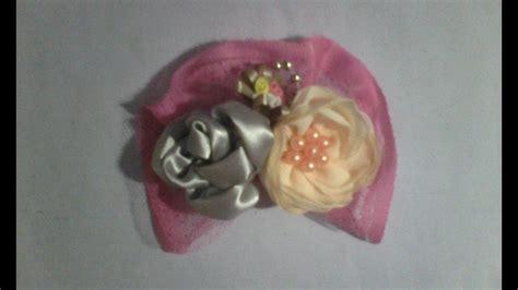 Bros Bunga Mawar Satin bros bunga mawar dari kain satin dan sifon