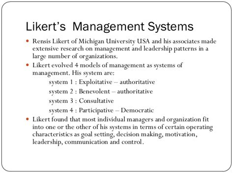 pattern of management theory theories of leadership
