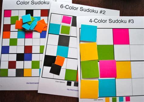 color sudoku printable color sudoku stuff