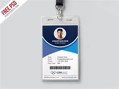 company badge template free psd corporate office identity card template psd by