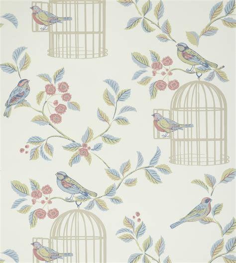 shabby chic songbird wallpaper eau de nil photo de
