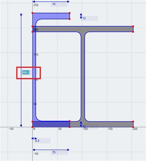 i beam section composite sections skyciv documentation