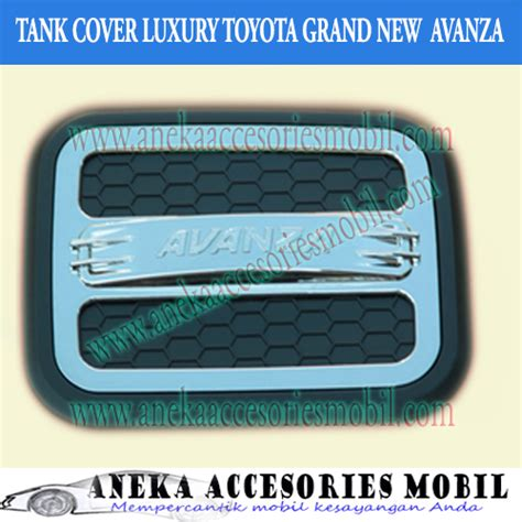 Tank Cover Model Icon Hitam garnish tutup bensin icon luxury toyota grand new avanza
