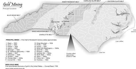carolina gold map map gold mining in carolina