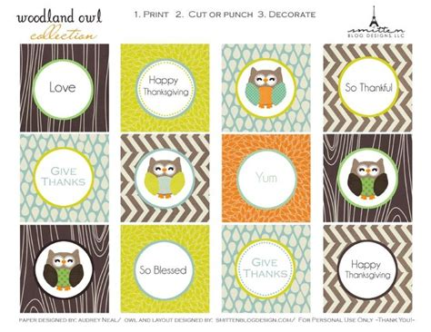 thanksgiving themed names free printable tags for fall but some would work