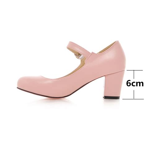 white black pink beige thick heel pumps wedding shoes