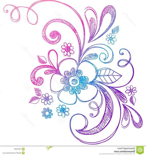 free vector doodle swirls best free sketchy doodle flower swirls vector pictures