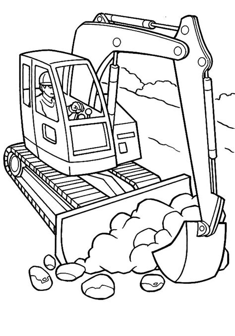 construction trucks free construction coloring pages