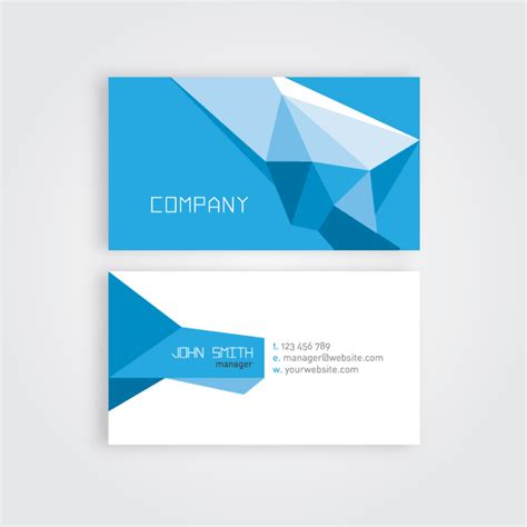 Business Card Templates Free Vector by Geometric Business Card Vector Template 123freevectors