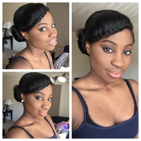 easy hairstyles for short relaxed hair simple protective style relaxed hair video relaxed
