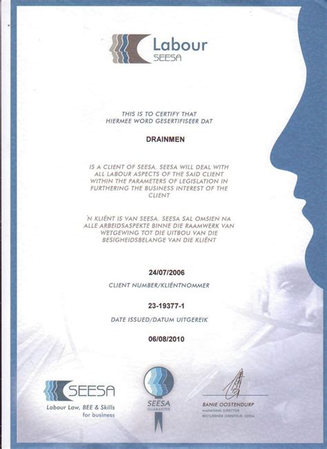 Diploma Of Plumbing by Certificates Drainmen