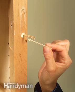 filling holes in cabinet doors kitchen cabinets 9 easy repairs the family handyman