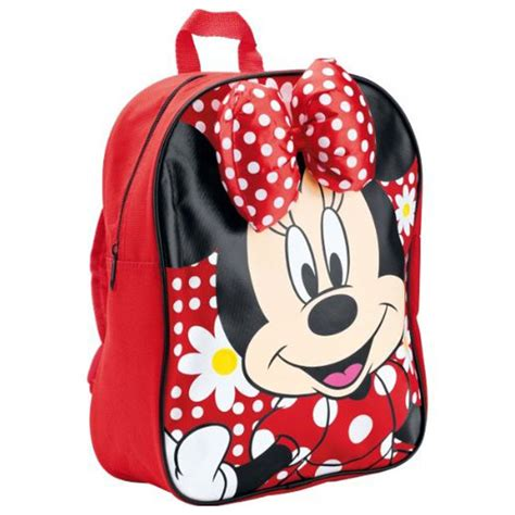 Paper Bag Minie Mouse 24cm X 24cm X 10cm minnie mouse bow rucksack backpack school bag new ebay