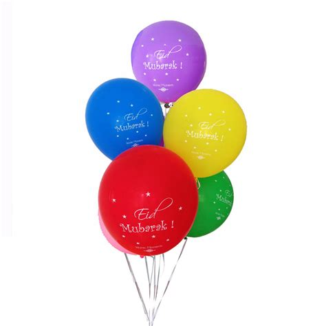 10 large eid mubarak balloons eid decorations multi