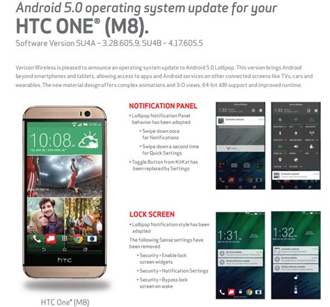 verizon android update verizon s htc one m8 finally gets the android 5 0 update
