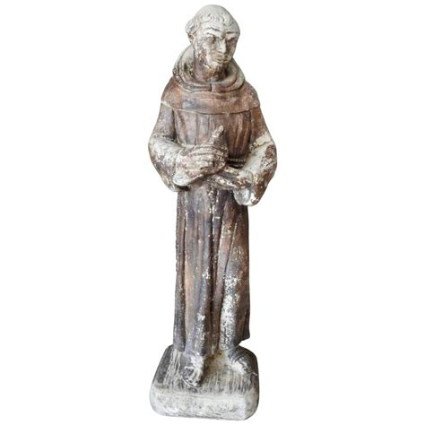early 19th century st francis of assisi garden statue for