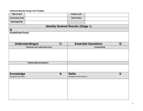 blank ubd lesson plan template best photos of blank unit plan template blank